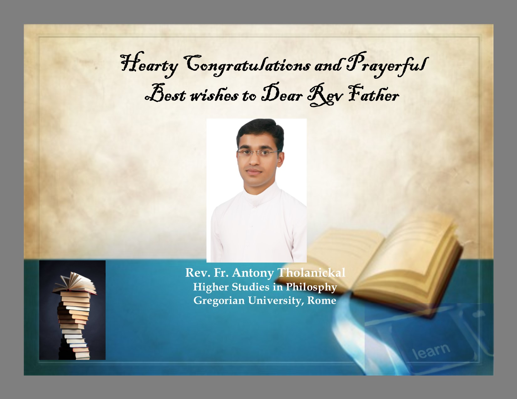 Hearty congratulations and Prayerful Best Wishes | MCBS